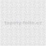 Samolepiace tapety transparentné ornamenty sivé Alba 45 cm x 2m (cena za kus)
