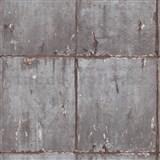 Vliesové tapety IMPOL Instawalls 2 betónové panely sivo-medené