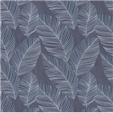 Vliesové tapety na stenu IMPOL Paradisio 2 listy modro-strieborné na čiernom podklade