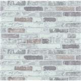 Vliesové tapety na stenu Imitations tehla sivo-biela