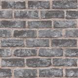 Vliesové tapety na stenu Exposure tehly tmavo sivé