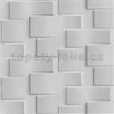 Vliesové tapety na stenu Exposure 3D kamenné kocky svetlo sivé