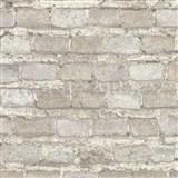 Vliesové tapety na stenu IMPOL Factory 4 tehly béžovo-sivé