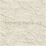 Vliesové tapety na stenu IMPOL Factory 4 mramor krémovo biely s niklovým žíháním