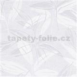 Vliesové tapety na stenu IMPOL Finesse abstraktné listy sivé