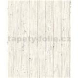 Vliesové tapety na stenu Facade drevené dosky svetle sivé