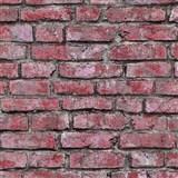Vliesové tapety na stenu IMPOL Imitations 2 tehly ružovo-červené