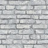 Vliesové tapety na stenu IMPOL Imitations 2 tehly sivé