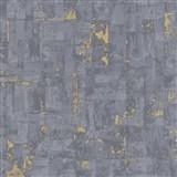 Vliesové tapety na stenu IMPOL Imitations 2 moderná stierka sivá so zlatými odleskami