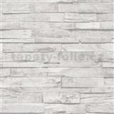 Vliesové tapety na stenu IMPOL Imitations 2 ukladané 3D drevo sivé