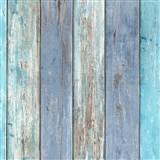 Vliesové tapety na stenu IMPOL Imitations 2 dosky zeleno-modré