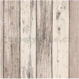 Vliesové tapety na stenu IMPOL Imitations 2 dosky svetlo hnedo-krémové