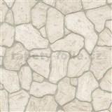 Vliesové tapety na stenu IMPOL Imitations 2 ukladaný kameň hnedý