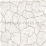 Vliesové tapety na stenu IMPOL Imitations 2 ukladaný kameň hnedo-sivý