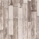 Vliesové tapety na stenu IMPOL Imitations 2 ukladané drevo hnedé