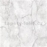 Vliesové tapety na stenu IMPOL Imitations 2 mramor sivo-biely