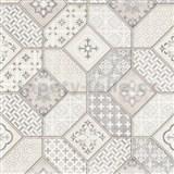 Vliesové tapety na stenu IMPOL Imitations 2 Maroccan sivo-staroružový