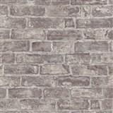 Vliesové tapety na stenu IMPOL Imitations 2 tehly hnedé s patinou