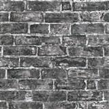Vliesové tapety na stenu IMPOL Imitations 2 tehly čierne s patinou