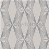 Vliesové tapety na stenu LIVIO geometrický vzor sivý na hnedom podklade