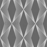 Vliesové tapety na stenu LIVIO geometrický vzor sivý na čiernom podklade