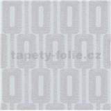 Vliesové tapety na stenu IMPOL Luna2 retiazkový vzor sivý s trblietkami
