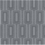 Vliesové tapety na stenu IMPOL Luna2 retiazkový vzor tmavo sivý s trblietkami