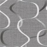 Vliesové tapety na stenu IMPOL Luna2 vlnovky sivo-biele na sivom podklade