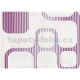 Vliesové tapety WohnSinn Cubes ružovo-fialové