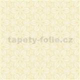 Vliesové tapety na stenu Mixing kvetinky vytláčané žlté