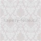 Vliesové tapety na stenu Mixing ornamenty biele na sivom podklade