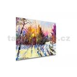 Obraz na plátne červánky nad brezami rozmer 100 x 75 cm