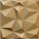 3D panel XPS DIAMANT zlatý rozmer  50 x 50 cm