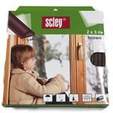 Samolepiace tesnenia do okien a dverí 6m profil P, tesnenia 3-5mm, hnedé