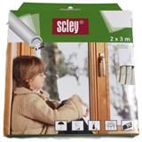 Samolepiace tesnenia do okien a dverí 6m profil D, tesnenia 3,5-6,5mm, biele