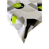 Obrus metráž káva-bistro zeleno-sivý