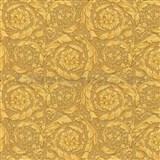 Luxusné vliesové  tapety na stenu Versace IV barokový kvetinový vzor zlatý