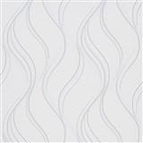 Vliesové tapety na stenu Bali vlnovky bielo-sivé