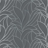 Vliesové tapety na stenu Bali listy sivo-čierne