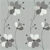 Vliesové tapety Belcanto - kvety šedo-hnedé MEGA ZĽAVA