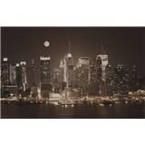 Luxusné vliesové fototapety New York - sépia, rozmer 418,5 x 270cm