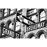 Luxusné vliesové fototapety New York - čiernobiele, rozmer 418,5 x 270cm