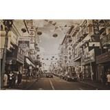 Luxusné vliesové fototapety San Francisco - sépia, rozmer 418,5 x 270cm