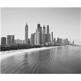 Luxusné vliesové fototapety Dubai - čiernobiele, rozmer 325,5 cm x 270 cm