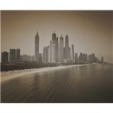 Luxusné vliesové fototapety Dubai - sépia, rozmer 325,5 cm x 270 cm