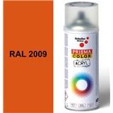 Sprej dopravný oranžový lesklý 400ml odtieň RAL 2009 farba dopravná oranžová lesklá