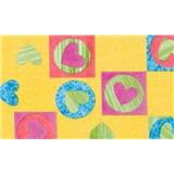 Samolepiace tapety detské - srdiečka, metráž, šírka 67,5 cm, návin 15m,
