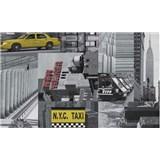 Samolepiace tapety City taxi - , metráž, šírka 67,5cm, návin 15m,