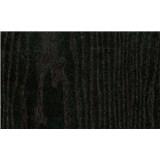 Samolepiace tapety čierne drevo - 45 cm x 15 m