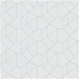 Vliesové tapety IMPOL Carat 2 geometrický vzor biely so sivými kontúrami